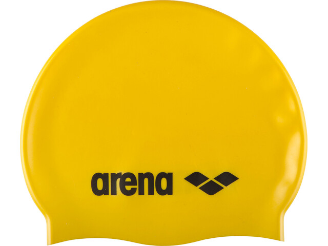 arena Classic Silicone Swimming Cap Juniors yellow-black